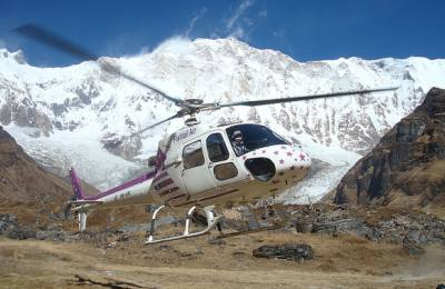 Everest Heli Tour, Heli in Mountain